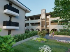 THREE-BEDROOM APARTMENT WITH HABITABLE KITCHEN, DOUBLE AMENITIES AND THREE-SIDED GARDEN - 1