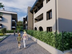 THREE-BEDROOM APARTMENT WITH HABITABLE KITCHEN, DOUBLE AMENITIES AND THREE-SIDED GARDEN - 7