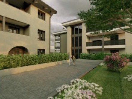 THREE-BEDROOM APARTMENT WITH HABITABLE KITCHEN, DOUBLE AMENITIES AND GARDEN